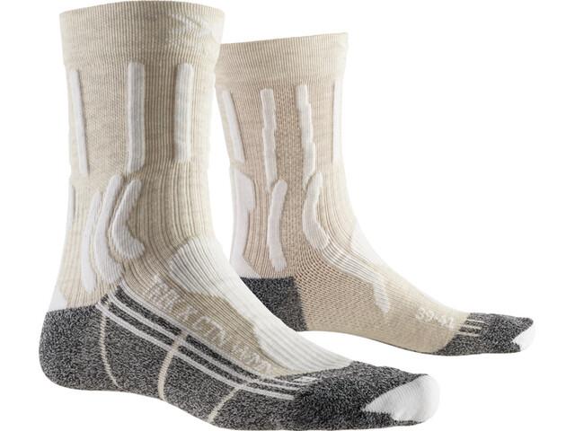 X-Socks Trek X CTN Calcetines Mujer, white/anthracite